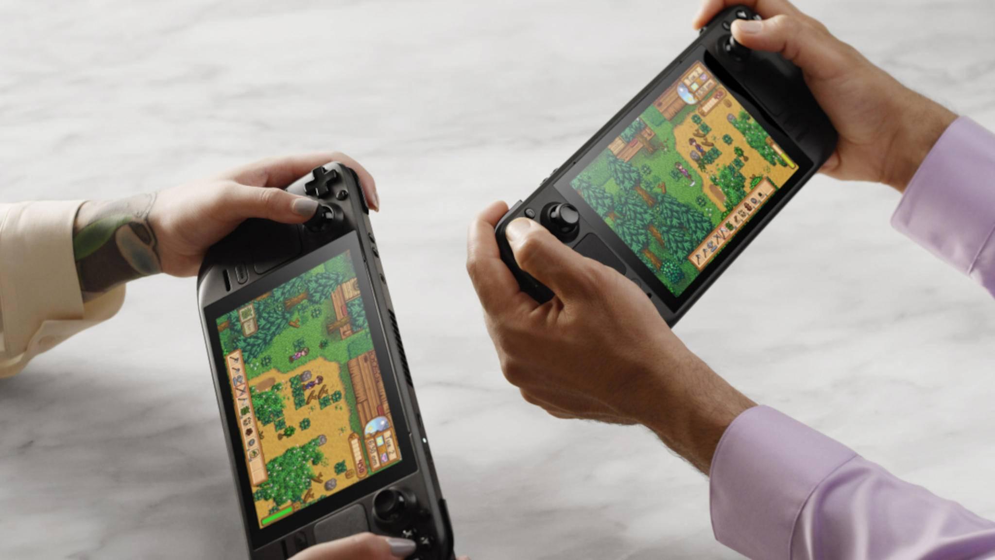 Das Steam Deck erinnert an die Nintendo Switch.