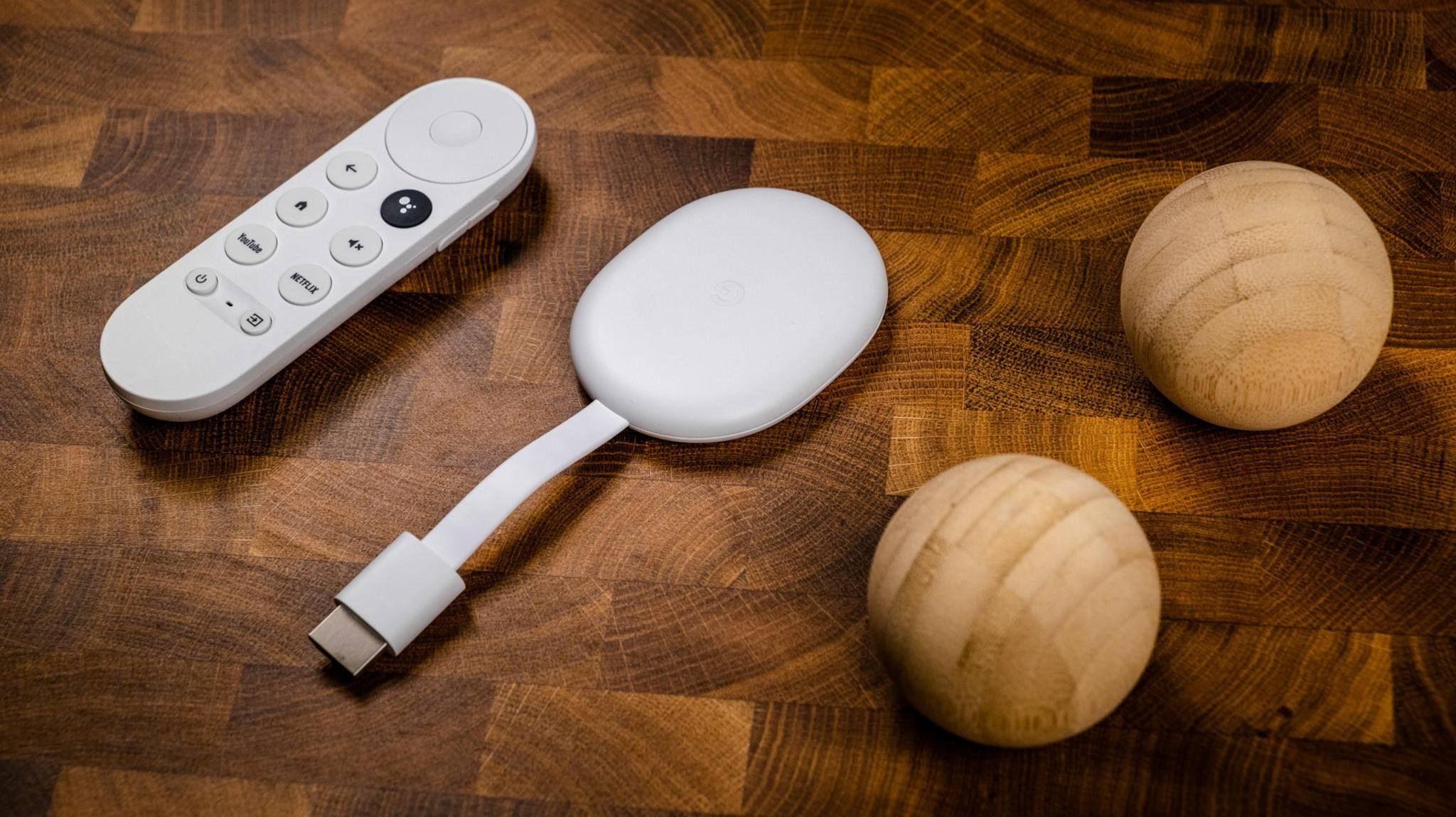 Praktisches Duo für Deinen Fernseher: Chromecast mit Google TV.
