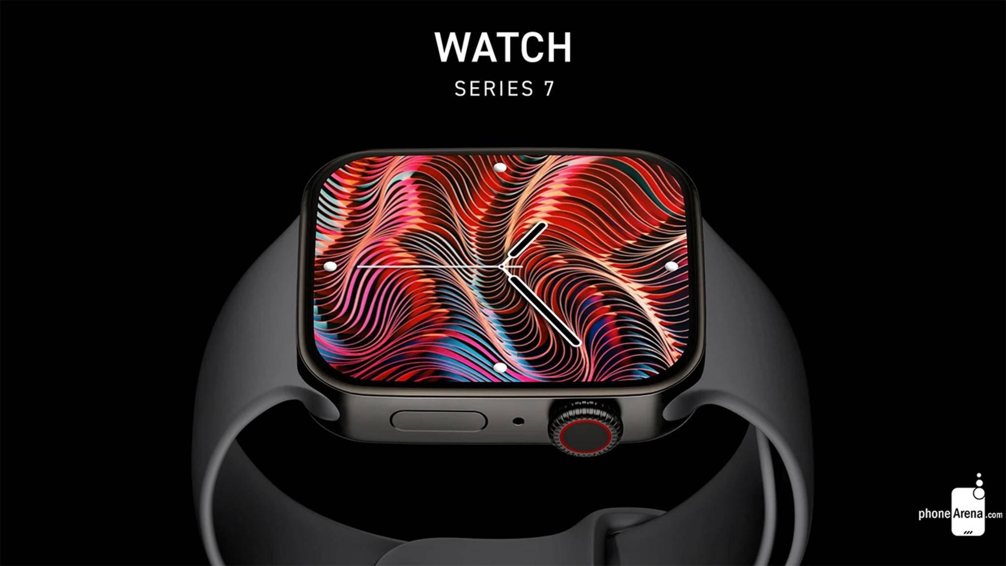 Flach statt abgerundet: So könnte der Screen der neuen Apple Watch aussehen.