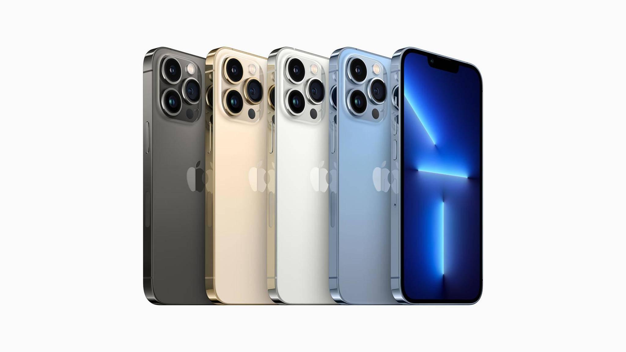 Das iPhone 13 Pro gibt es in vier Farben – erstmals auch in Sierrablau.