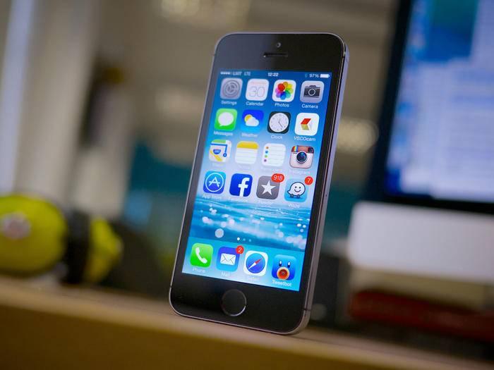 Das ist ein iPhone 5s – das iPhone SE soll aber genauso aussehen.