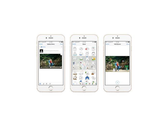 Facebook-Nutzer können jetzt auch Fotos mit Stickern versehen.