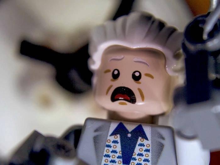 """Ziemlich gut getroffen: die Lego-Version von Dr. Emmett """"Doc"""" Brown."""