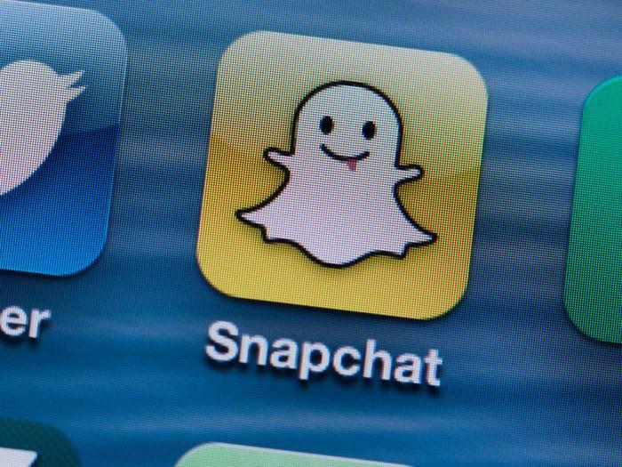Meist schlüpfig: Der Messaging-Dienst Snapchat.