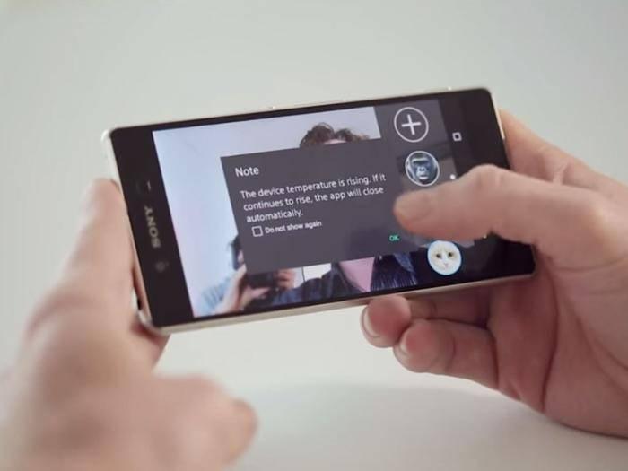 Schon nach wenigen Sekunden Kamera-Nutzung überhitzt das Sony Xperia Z3+.