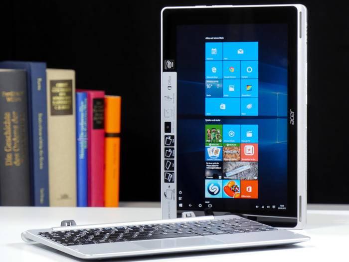 Windows 10 funktioniert auch auf dem Tablet ziemlich gut.