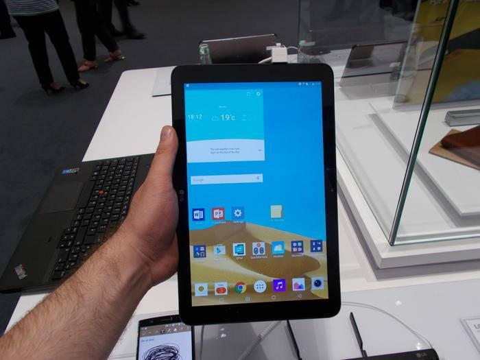 Das LG G Pad II auf der IFA 2015.