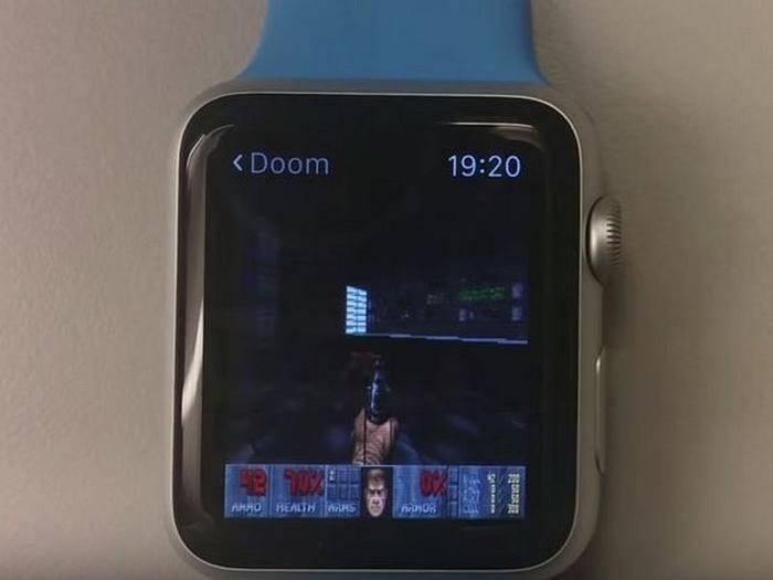 """So sieht """"Doom"""" auf der Apple Watch aus."""