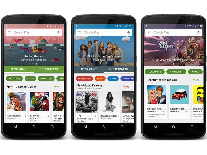 Erste Bilder zeigen das neue Design des Google Play Store.