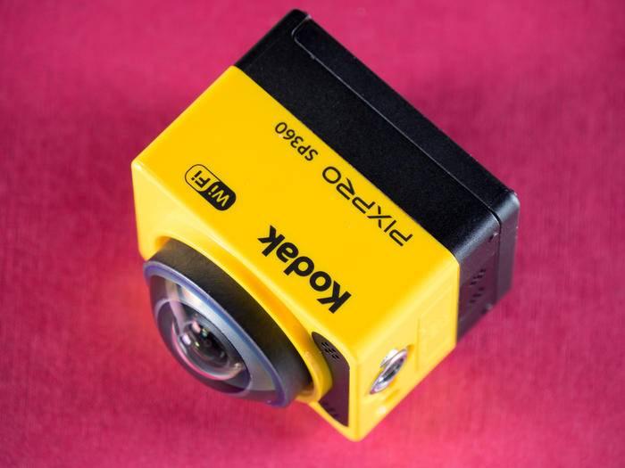 Die Kodak erlaubt als eine der wenigen Action-Cams 360 Grad-Aufnahmen.