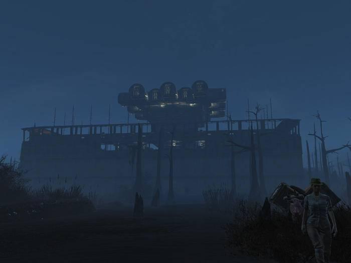 """Diese """"Fallout 4 """"-Festung überragt das Ödland."""