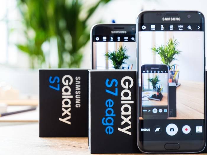 Ein starkes Duo: das Samsung Galaxy S7 und das S7 Edge.