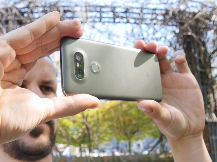Das LG G5 besitzt eine Dual-Kamera.