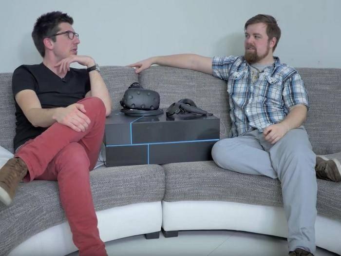 Alex und Jens diskutieren über die HTC Vive.