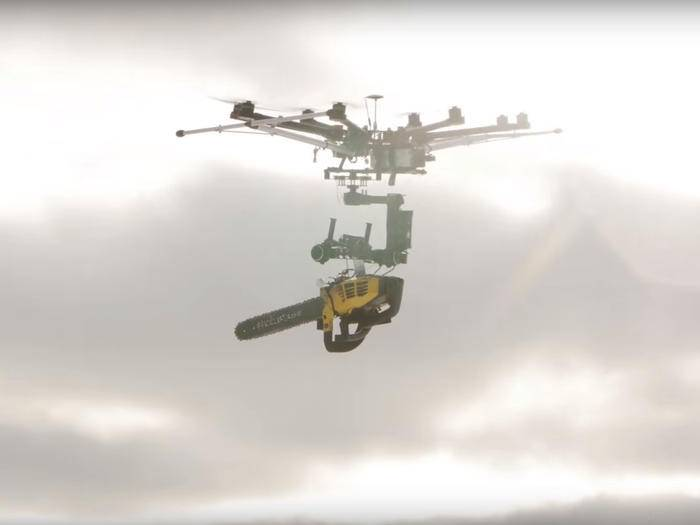 Kettensägen-Drohne