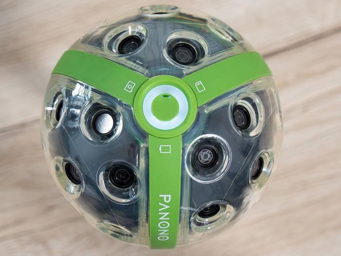 Die Panono Camera besitzt 36 Linsen und macht 108-MP-Panoramen.