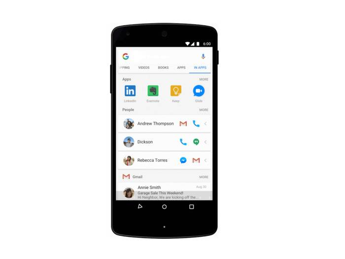 Bald wird man in der Google-App andere Apps durchsuchen können.