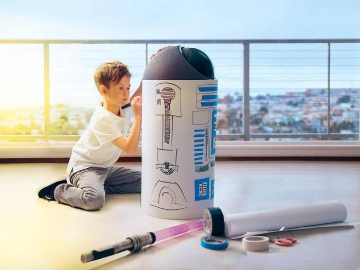 Endlich ein Droide für Zuhause: Der Big-I erinnert an R2-D2.