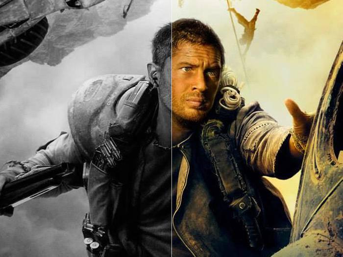 """In schickem Schwarz-Weiß stürzt sich """"Mad Max: Fury Road""""-Star Tom Hardy bald ins Endzeit-Getümmel."""
