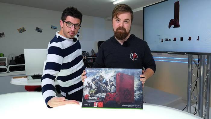 """TURN ON verlost eine Xbox One S """"Gears of War 4"""" Limited Edition."""