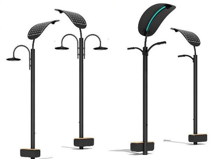 Diese Straßenlampen laufen dank Sonne und Schritten.