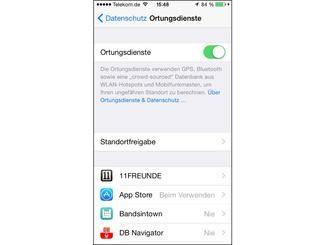 Ortungsdienste für Apps wie Google Maps oder Facebook verbrauchen sehr Strom.
