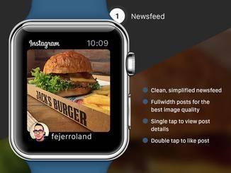 Instagram könnte auch auf der Apple Watch eine gute Figur machen.