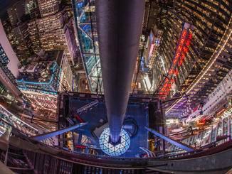 Der Times Square Ball Drop steht kurz bevor.
