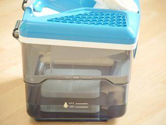 Vor dem Saugen: einen Liter Wasser einfüllen.