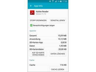 Daten einzelner Apps lassen sich auf eine SD-Karte verschieben.