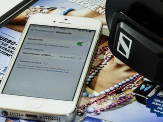 Die Bluetooth-Verbindung mit einem Smartphone klappt ohne Probleme.