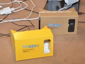 Vroggles ist eine neue und billige VR-Brille aus Pappe nach dem Vorbid des Google Cardboard.