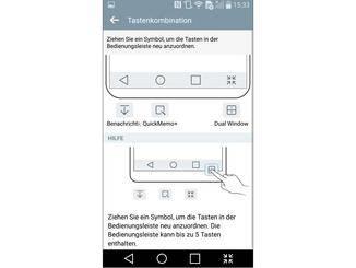 LG lässt Nutzer die Bedienleiste erweitern.