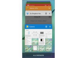"""Der Button links neben dem """"Schließen""""-Kreuz öffnet Apps in der Multi-Window-Ansicht."""