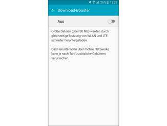 Praktisch: der Download-Booster, mit dem sich große Dateien schneller herunterladen lassen.