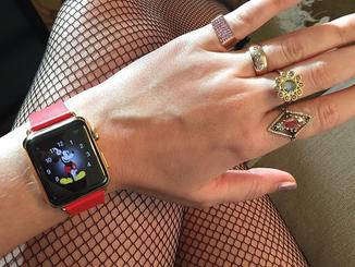 Katy Perry mit Apple Watch
