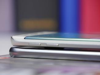 Das Galaxy S6 Edge ist minimal dicker als das S6.