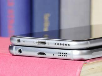 Die Antennenunterbrecher befinden sich beim Galaxy S6 an der Unterseite.