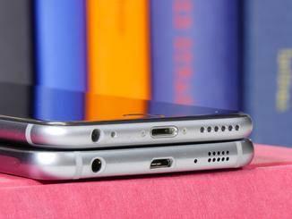 Die Unterseite wirkt wie eine Kopie vom iPhone 6.