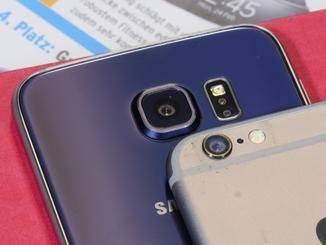 Die Rückkamera des Galaxy S6 ist monströs.