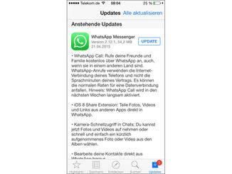 Whatsapp Calls auch für iOS