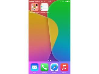 "Homescreen mit App ""Erinnerungen"""