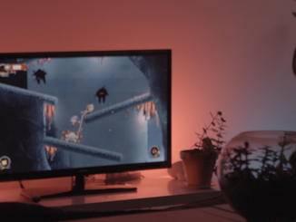 Wird der Spieler von Feinden angegriffen, erstrahlen die Leuchtmittel in Rot.