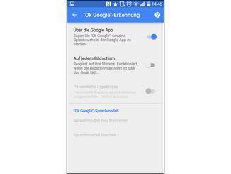"""So kann der Sprachbefehl """"Ok Google"""" auf jedem Screen genutzt werden."""