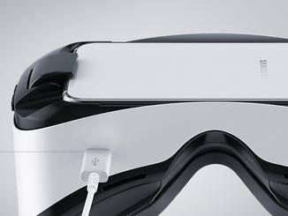 Über den Micro-USB-Anschluss kann die Brille mit Strom versorgt werden.