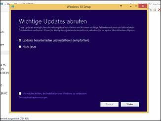 Vor dem eigentlichen Upgrade sollte das System aktualisiert werden.
