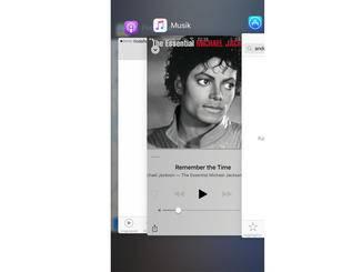Eher kosmetischer Natur: Die Anzeige der geöffneten Apps hat sich geändert.