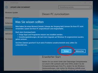 Windows10 deinstallieren