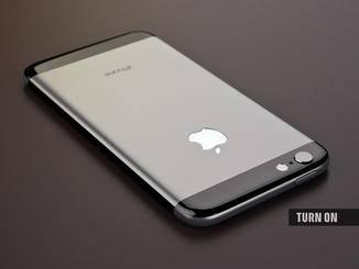 The Apple logo on the back could optionally be illuminated.