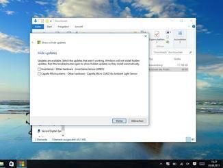 Dabei können einzelne Updates ganz gezielt ausgewählt werden.